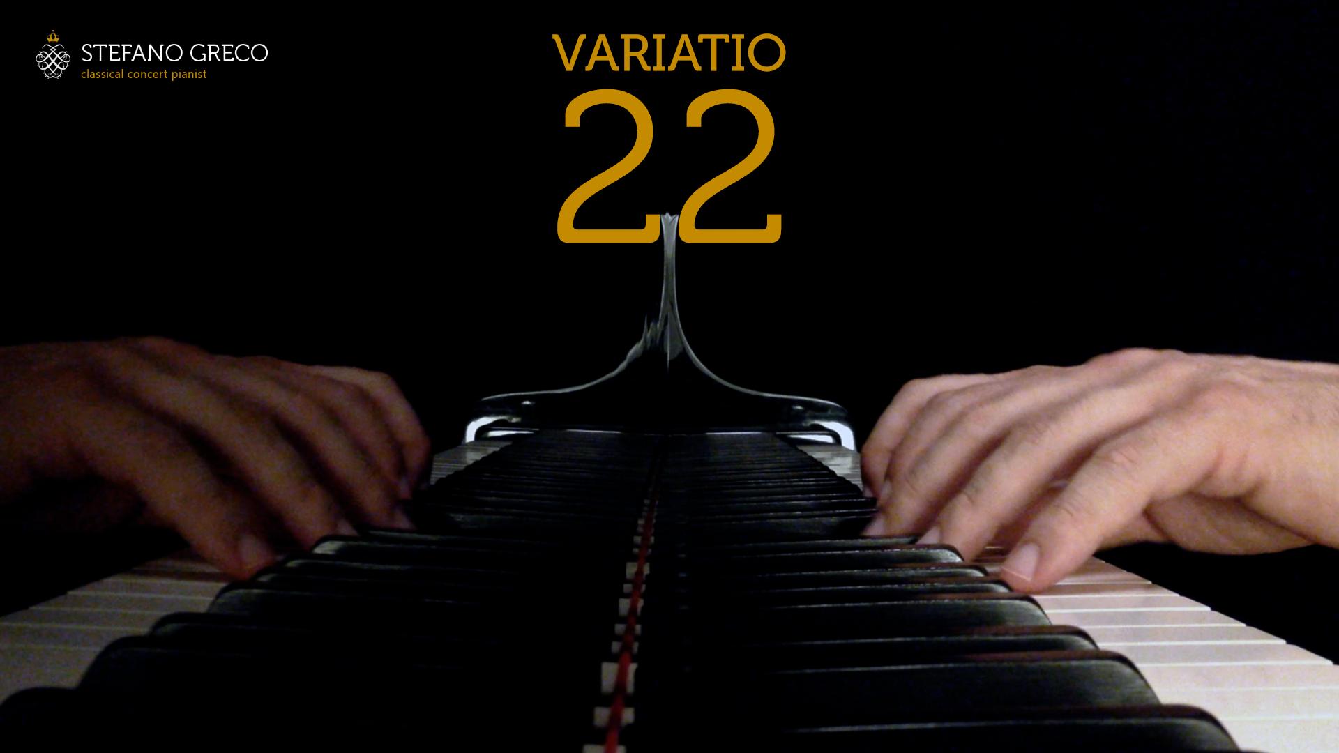 Bach. Goldberg Variations. Variatio XXII. Stefano Greco, piano